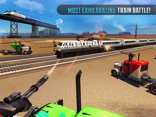 Police Train Shooter Gunship Attack : Train Games screenshot 6