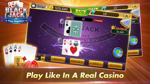 Blackjack 21 Free - Casino Black Jack Trainer Game 2 تصوير الشاشة