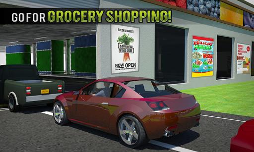 चलाना थ्रू सुपरमार्केट: खरीदारी मॉल कार ड्राइविंग स्क्रीनशॉट 2