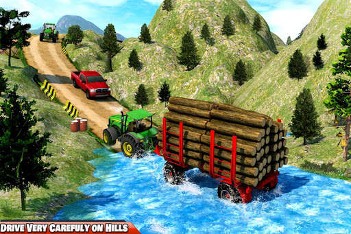 Drive Tractor trolley Offroad Cargo- Free 3D Games screenshot 1