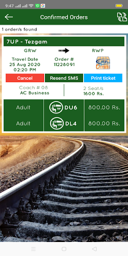 Pakistan Railways Official screenshot 8