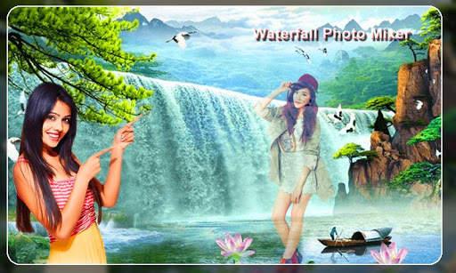 Waterfall Photo Blender : Photo Mixer स्क्रीनशॉट 5