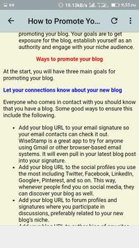 Blogging Guide screenshot 5