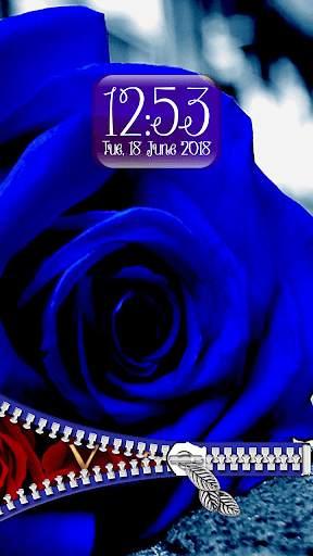 Rose Theme Zipper Lock Screen screenshot 5