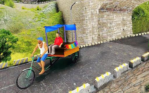 Bicycle Rickshaw Simulator 2019 : Taxi Game screenshot 3