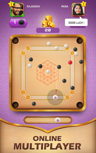 Carrom Friends : Carrom Board & Pool Game 1 تصوير الشاشة