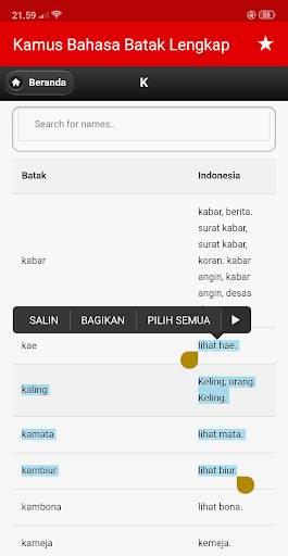Kamus Bahasa Batak Indonesia Lengkap screenshot 6