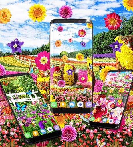 Flower garden live wallpaper 4 تصوير الشاشة