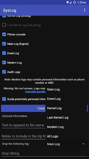 SysLog screenshot 2