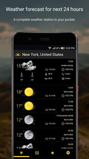 الطقس لمدة 16 يوما 1 تصوير الشاشة