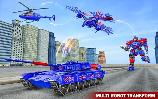 Tank Robot Game 2020 – Police Eagle Robot Car Game screenshot 2