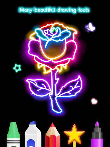 Learn To Draw Glow Flower скриншот 12