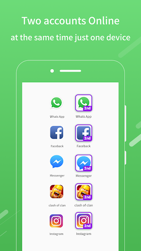 2Face: 2 Accounts for 2 whatsapp, dual apps screenshot 1