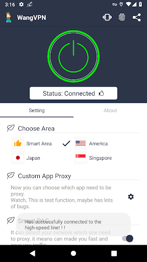Wang VPN ❤️- Free Fast Stable Best VPN Just try it screenshot 2