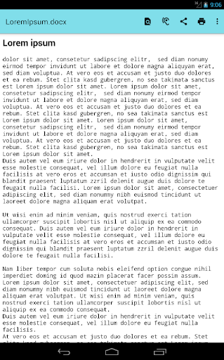 Office Documents Viewer screenshot 4