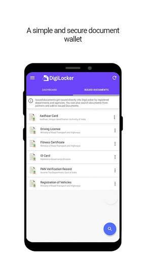 DigiLocker  -  a simple and secure document wallet screenshot 1