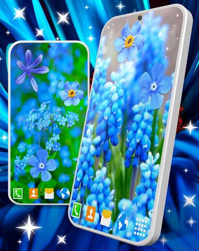 Blue Flowers Live Wallpaper 🌼 Flower 4K Wallpaper screenshot 3