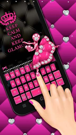 Pink Glamour girl Keyboard Theme screenshot 2