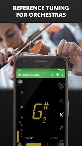 Guitar Tuner, Bass, Violin, Banjo & more | DaTuner 7 تصوير الشاشة