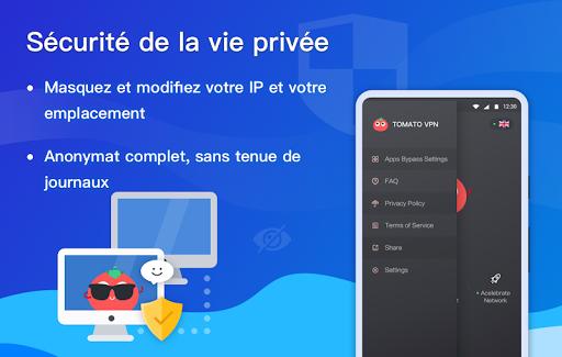 Free VPN Tomato | Un VPN gratuit ultra rapide screenshot 5