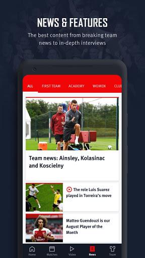 Arsenal Official App 5 تصوير الشاشة