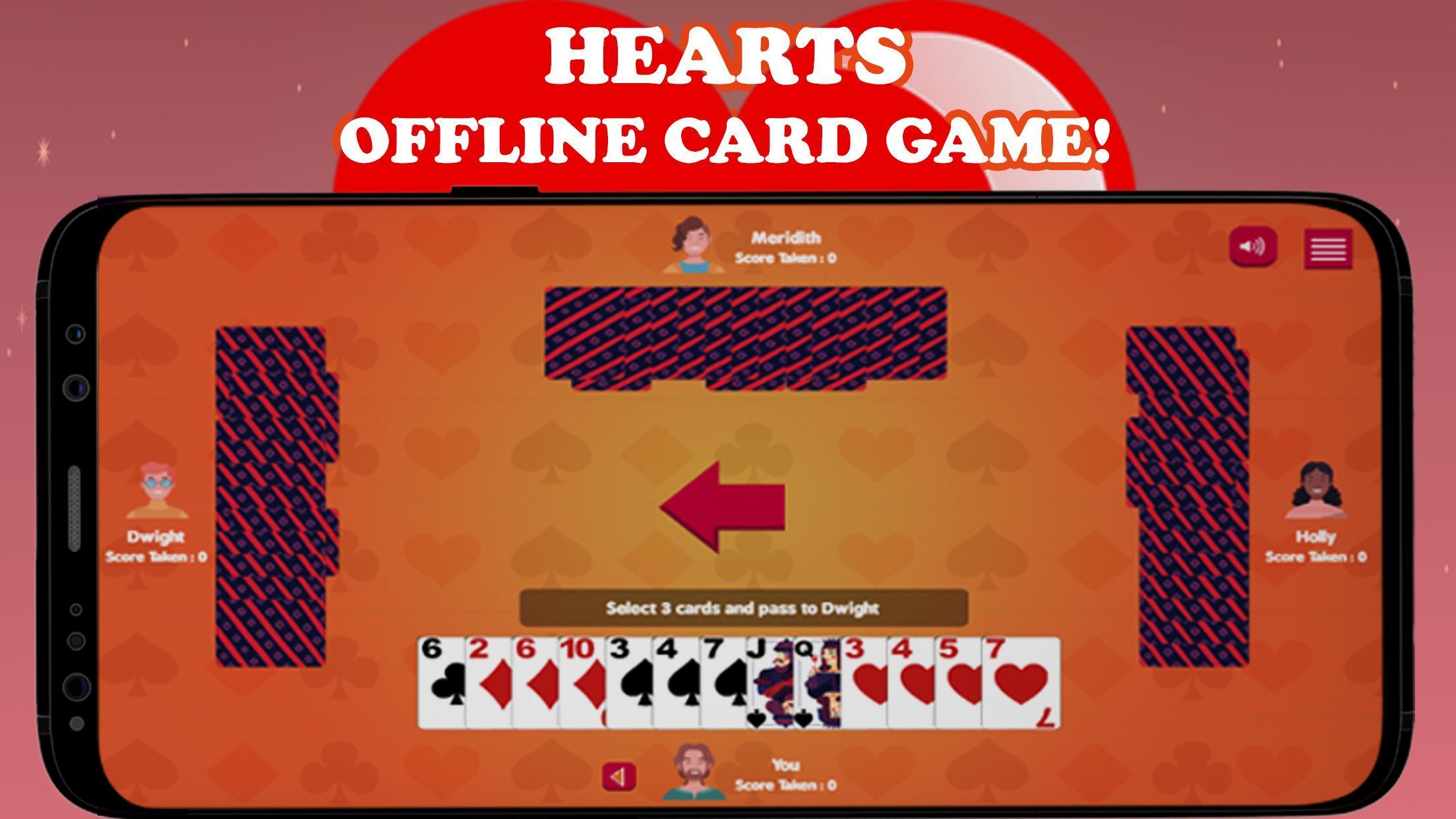 Hearts Card Game - Free Offline | no wifi required 2 تصوير الشاشة