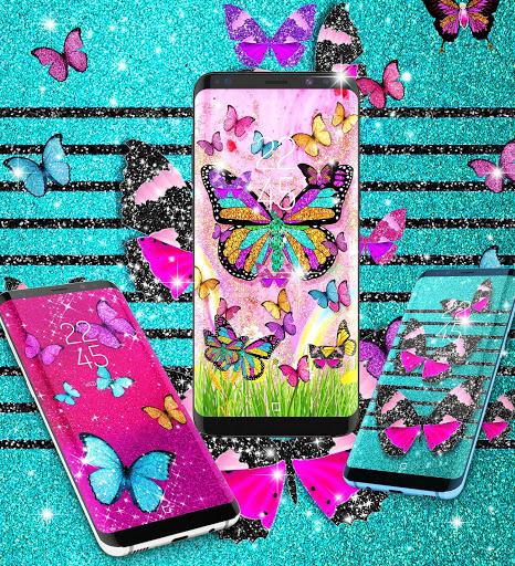 Glitter butterfly live wallpaper 4 تصوير الشاشة