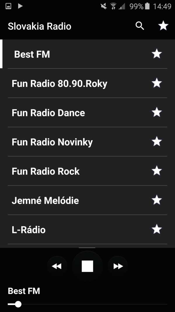 Slovakia radio screenshot 2