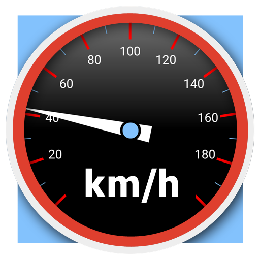 Speedometer analog, digital with odometer and HUD icon