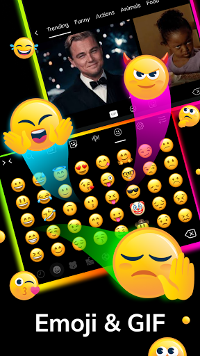 LED Lighting Keyboard - Emojis, Fonts, GIF screenshot 8