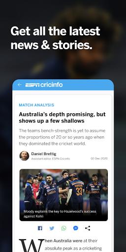 ESPNCricinfo - Live Cricket Scores, News & Videos screenshot 4