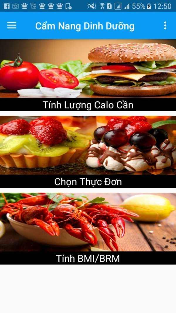 Cẩm Nang Dinh Dưỡng screenshot 1