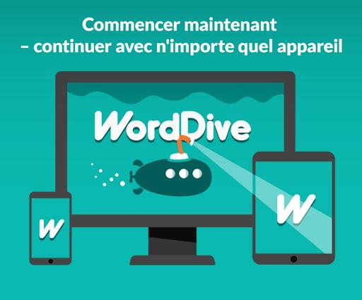 WordDive : Apprendre l'anglais, l'espagnol & plus screenshot 6