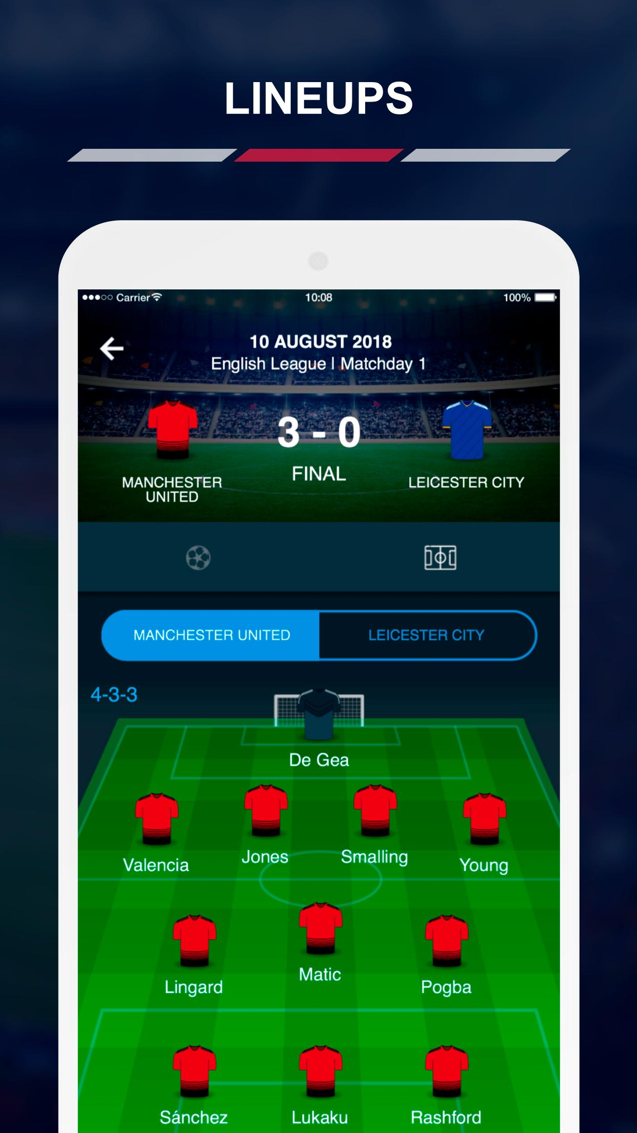 English Football Scores 4 تصوير الشاشة
