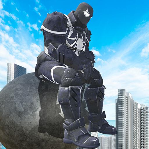 Agent Venom Rope Hero  Gngaster Crime icon