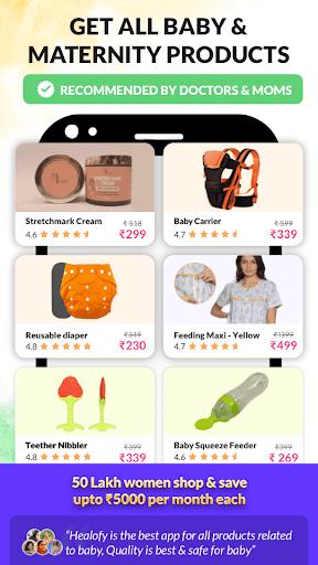 Healofy:Indian Pregnancy Parenting & Baby products 1 تصوير الشاشة