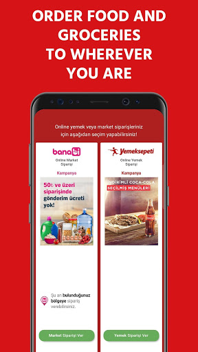 Yemeksepeti - Order Food & Grocery Easily screenshot 1