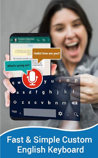 English Voice Typing Keyboard – Speak to text screenshot 1