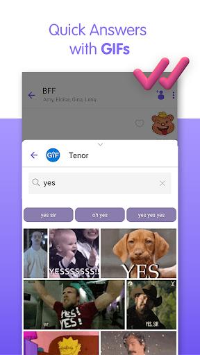 Viber Messenger - Messages, Group Chats & Calls स्क्रीनशॉट 4