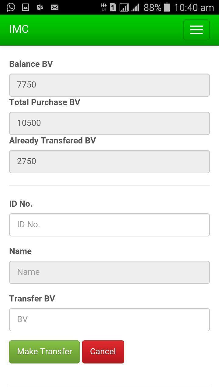 IMC Business Application screenshot 2