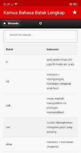 Kamus Bahasa Batak Indonesia Lengkap screenshot 9