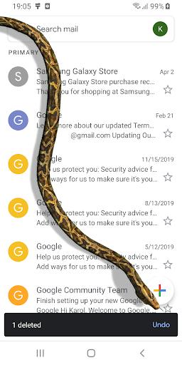 Змея на Экране Шипящая Шутка - iSnake скриншот 2