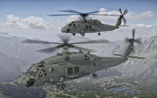 الجيش هليكوبتر الناقل الطيار محاكي 3D 2 تصوير الشاشة