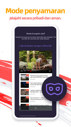 UC Browser-Aman, Gratis & Unduh Video dengan Cepat screenshot 5