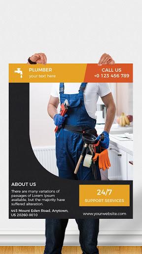 Flyers, Poster Maker, Graphic Design, Banner Maker 1 تصوير الشاشة