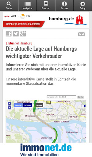Hamburg App स्क्रीनशॉट 2