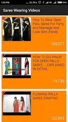 Saree Wearing Style Videos screenshot 2