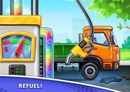 बच्चों के लिए ट्रक गेम - घर की इमारत  कार धोने स्क्रीनशॉट 16