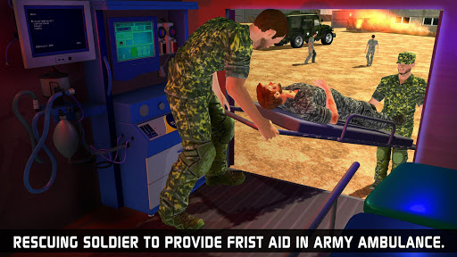 US Army Ambulance Driving Game : Transport Games स्क्रीनशॉट 4