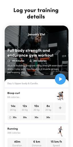 Virtuagym Fitness Tracker - Home & Gym screenshot 5
